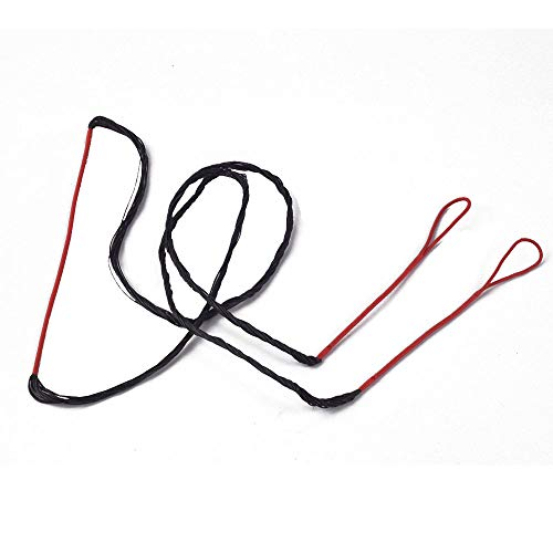 LWANO Red Bow String Set 12/14/16 Strands 48-70 inches for Traditional Recurve Bow Replacement Bowstring(with Copper Buckle (AMO 48in (Actual Length 44in), 12 Strands (Recommended for up to 40lb.))