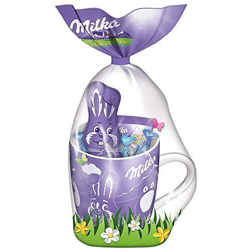 Milka Osterbecher 1 x 95g, Mischung aus Milka Osterschokolade in niedlicher Tasse