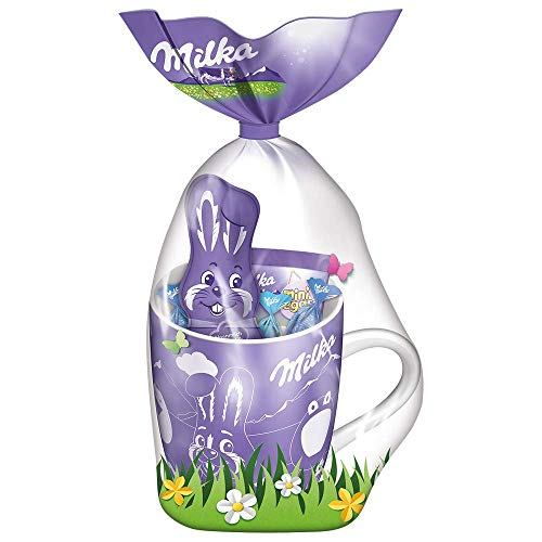 Milka Osterbecher 1 x 95g, Mix aus beliebter zartschmelzender Milka Osterschokolade in niedlicher Tasse
