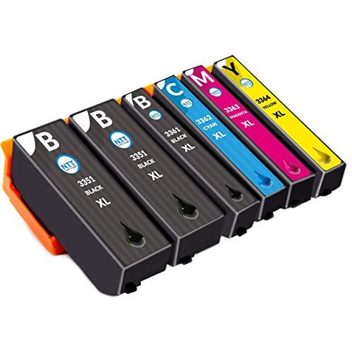 NTT 6 XL Druckerpatronen als Ersatz für Epson 33XL Multipack kompatibel mit Epson XP-900 XP-7100 XP-530 XP-540 XP-630 XP-635 XP-640 XP-645 XP-830