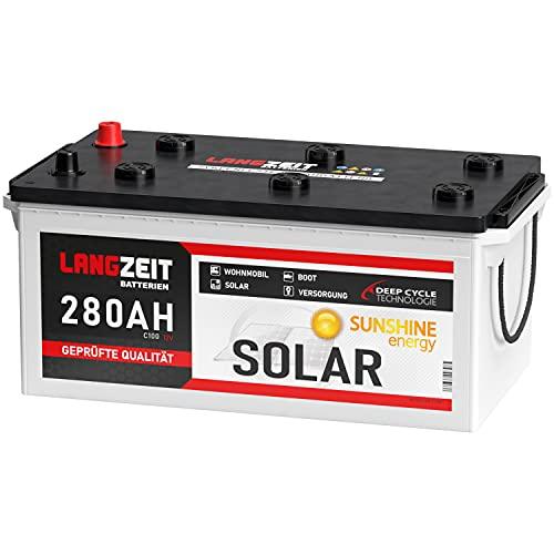 Solarbatterie 280Ah 12V Wohnmobil Boot Wohnwagen Camping Schiff Batterie Solar 230Ah 250Ah (280AH 12V)