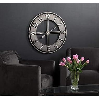 Studio Designs Home 73003 Industrial Loft Metal Decor Wall Clock, Steel, 30