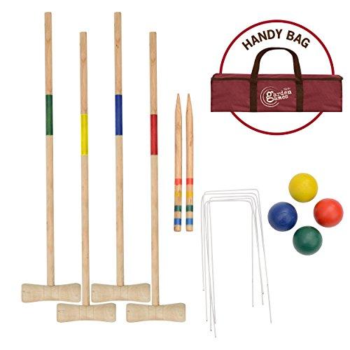 Juego de Croquet de Madera para Juegos de jardín