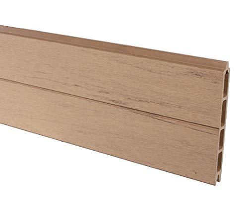 bambus-discount.com Profilbrett für Modulzaun, WPC Sand mit 15x2,1x178 - Sichtschutz, Sichtschutz Elemente, Sichtschutzwand, Windschutz, Sichtschutzzäune
