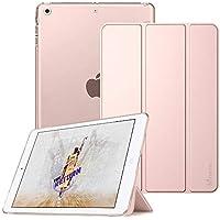 Fintie Funda para iPad Mini 3/2 / 1 - Trasera Transparente Mate Carcasa Ligera con Función de Soporte y Auto-Reposo/Activación, Oro Rosa