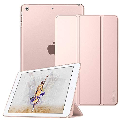 Fintie Case for iPad Mini 3/2 / 1 - Lightweight Smart Slim Shell Translucent Frosted Back Cover Protector Supports Auto Wake/Sleep for Apple iPad Mini 1 / Mini 2 / Mini 3, Rose Gold