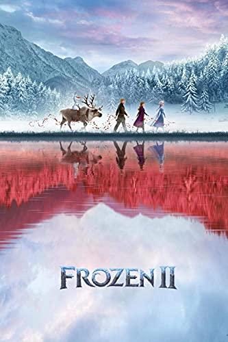 Cxtijkerw Rompecabezas, Rompecabezas de 1000 Piezas para Adultos, Rompecabezas Imposible, Rompecabezas Educativo de Juguete para niños, Carteles de películas de Frozen II, un 38 x 26 cm