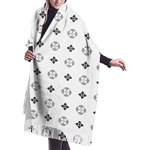Regan Nehemiah bladeren Louis eenvoudige geometrische bruine vuitton patroon botaniek coating kleur prachtige vrouwen sjaal lange sjaals wraps winter warme sjaals geschenken