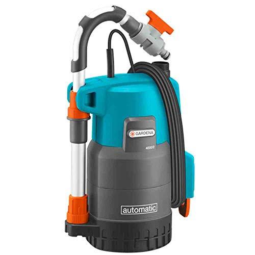 Gardena 01742-61 Regenfasspumpe 4000/2 automatic, 500 W, türkis, schwarz, Orange