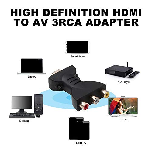 AV Señal Digital HD a 3 RCA o Adaptador Convertidor de componentes Video para PC Proyector Tableta Computadoras: Amazon.es: Electrónica