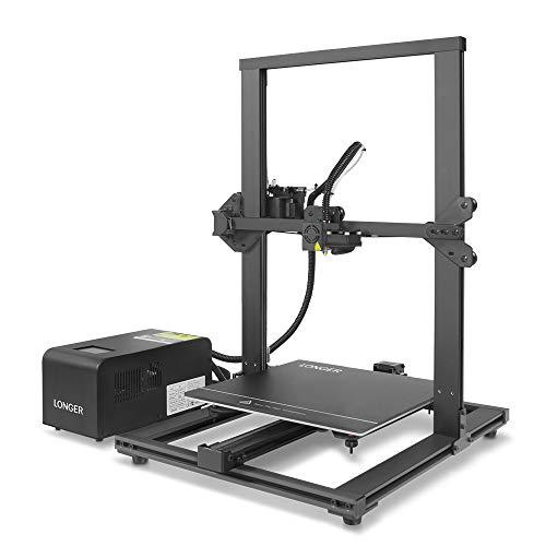 LONGER LK1 Stampante 3D 90% Pre-assemblata, Grandi Dimensioni di Stampa 300x300x400mm, Touch Screen a Colori, Rilevatore di Filamenti, Riprendi la Stampa, Telaio Interamente in Metallo