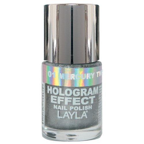Layla Cosmetics 1246R23-001 Smalto, Effetto Ologramma, Tonalità 01 Mercury Twilight