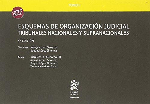 Tomo I Esquemas de Organización Judicial Tribunales Nacionales y Supranacionales 5ª Edición 2018