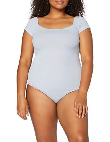 Marchio Amazon - MERAKI Body in Cotone Donna, Blu (blu zen)., L, Label: L