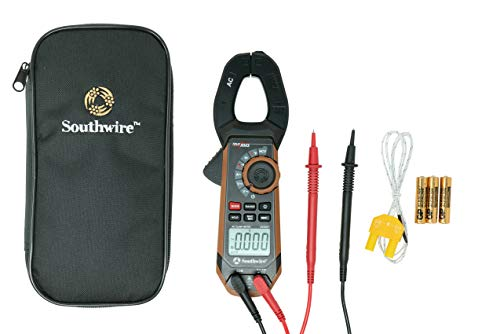 Southwire - 65031640 CLAMP METER, 400A AC/DC 21530T,Black/Brown