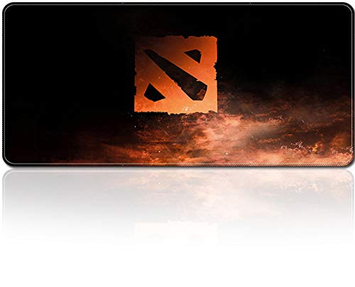 """Smaige XXL Extended Gaming Mouse Mat / Pad - Large, Wide ( Long ) Mousepad, Stitched Edges   31.5""""x15.7""""x0.12"""" Dimensions ( Dota 2 )"""