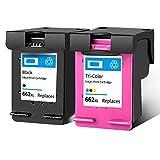 Cartucho de tinta 662XL, repuesto de alto rendimiento para impresora HP Deskjet Ink Advantage 1014 1015 1515 1516 2548 3548 4518 cartuchos de tinta de tinta negro y tricolor 1 negro 1 tricolor