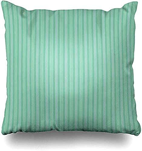 ASDEW987 - Federa per cuscino, motivo a righe, stile astratto, stile vintage, blu, verde, verticale, texture spaziali, stampa alla moda