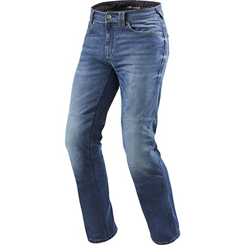 Revit Philly 2 LF Motorrad Jeans 34 Blue Stone Waschung L36