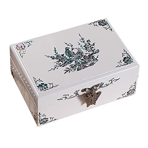 cajas para joyas Joyería caja de joyería joyería caja de trinket caja joyería caja de joyería blanco sólido boda tanabata regalo portátil maquillaje pequeño joyería caja pendientes pendientes anillo c