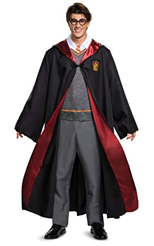 Disguise Men's Harry Potter Deluxe Adult Costume, Black & Red, XL (42-46)