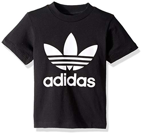 adidas Originals unisex-baby Trefoil Tee Black/White 3T