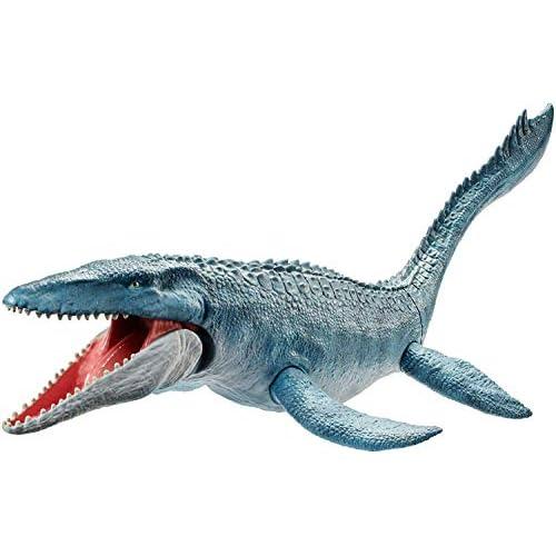 Mattel-FNG24 Jurassic World Creatura Acquatica Colossale con Tatto Autentico, Multicolore, 61 cm, FNG24