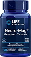Life Extension Neuro-Mag Magnesium L-Threonate, 90 Vegetarian Capsules Ultra-Absorbable Magnesium - Memory, Focus &...