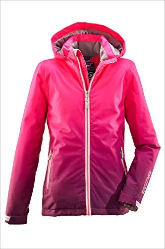 Killtec Mädchen Grenda Jr Skijacke/Funktionsjacke Mit Kapuze Und Schneefang, 10.000 Mm Wassersäule, Wasserdicht, Pink, 152