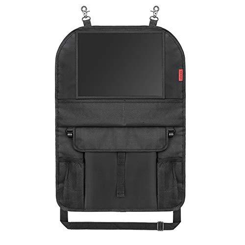 Auto Organizer (1 Stück) Autositzschoner Rückenlehne Kinder Wasserdicht Autositz Organizer mit Taschen und Große iPad-/Tablet-Fach Sitzschutz Auto Rückenlehne