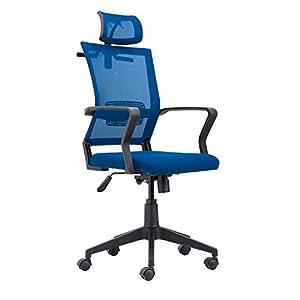 Winner, Silla de Oficina, Despacho, Escritorio o Estudio, Acabado en Tejido Transpirable Azul, Medidas: 64 cm (Ancho) x…