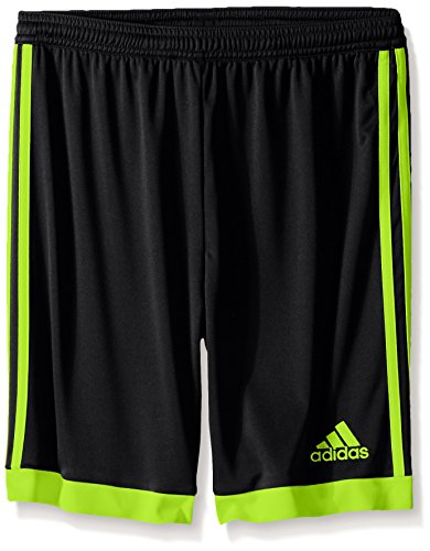 adidas Performance Youth Tastigo 15 Shorts, Black/Semi Solar Slime, Medium