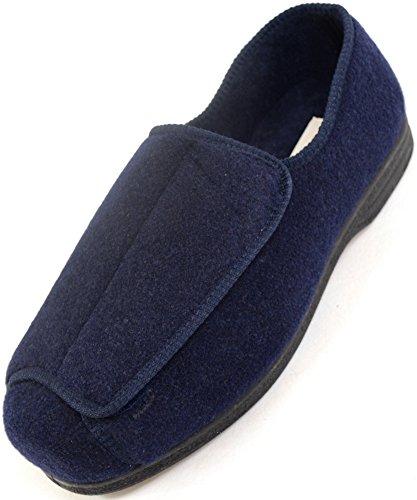 Zapatos ortopédicos para hombre con amplitud EEE, ajustables, color Azul, talla 44