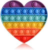 Kalp Gökkuşağı Push Pop - Pop It Push Bubble Fidget Özel Pop Duyusal Oyuncak Zihinsel Stres