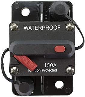 STETION 150 Amp Circuit Breaker Trolling with Manual Reset Car Marine Trolling Motors Boat ATV Manual Power Protect for Audio System Fuse 12V-48VDC Waterproof (150Amp) …