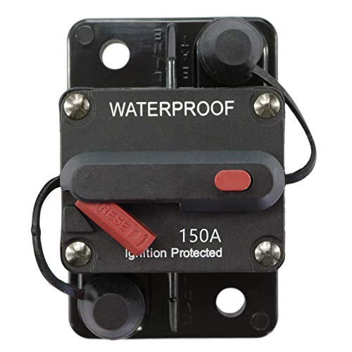 12v 24v Manual Reset Circuit Breaker Audio Fuse Waterproof 40-300 Amp Waterproof