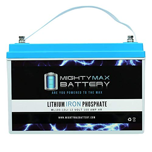Mighty Max Battery 12V 100AH Lithium Replacement Battery for Renogy PV Solar Panels Brand Product