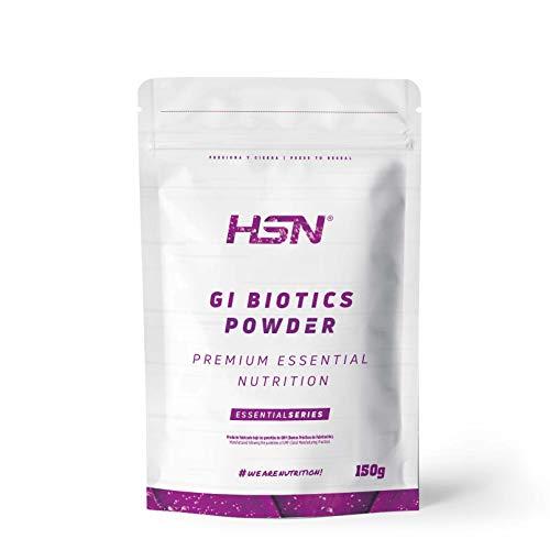 Probiótico de HSN GI Biotics Powder | Glutamina + Bromelina + Inulina + Cúrcuma + Enzimas Digestivas + Jengibre + Fermentos Bacterianos | Vegano, Sin Gluten, Sin Lactosa, Sin OMG | 150gr