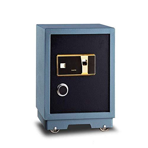 Caja de seguridad Caja de 57 cm Alta seguridad Residencial Alarma antirrobo Huella digital de seguridad Caja fuerte para oficina Hotel Pared Adecuado para hoteles de oficina en casa (Color: color de l