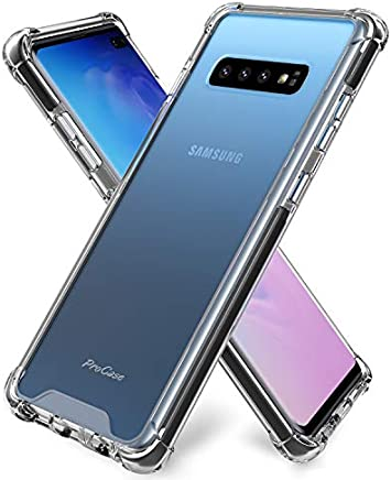 ProCase Galaxy S10 Plus Case Clear, Slim Hybrid TPU Bumper Cushion Cover with Reinforced Corners, Crystal Scratch Resistant Rugged Cover Protective Case for Galaxy S10+ Plus 2019 –Clear
