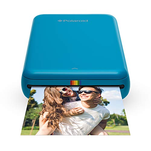Polaroid ZIP Wireless Mobile Photo Mini Printer (Blue) Compatible w/ iOS & Android, NFC & Bluetooth Devices