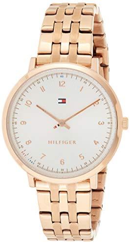 Tommy Hilfiger Damen Analog Quarz Uhr mit Edelstahl beschichtet Armband 1781760