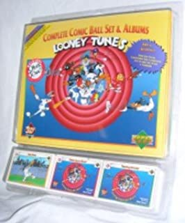 Looney Tunes Comic Ball Series 1 Factory Set with Holograms and Albums