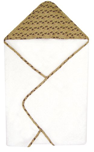 Trend Lab Northwoods Hooded Towel, Red/Tan