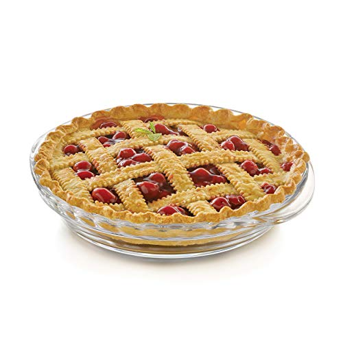 Libbey Baker's Basics 2-Piece Glass Deep Pie Plate Set