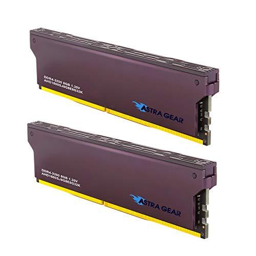 ASTRA GEAR 16GB (2 x 8GB) DDR4 3200MHz (PC4-25600) Desktop Memory Module Ram Upgrade Gaming U-DIMM (AHD1600SJ8G8E8G32K)