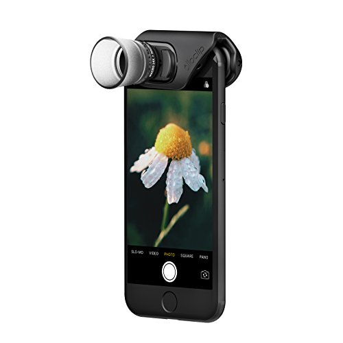 olloclip - Macro Pro Lens Set for iPhone 7/7 Plus & iPhone 8/8 Plus I Mobile Lens | Compatible w/Screen Protectors | Support for Photos, Videos, Time-Lapse, Panoramas & VR Photos - Black