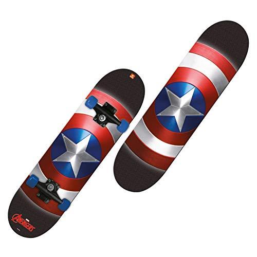 Mondo Toys -  Skateboard Capitan America - ruote PVC - 9 strati board - 80 x 20 - 28099