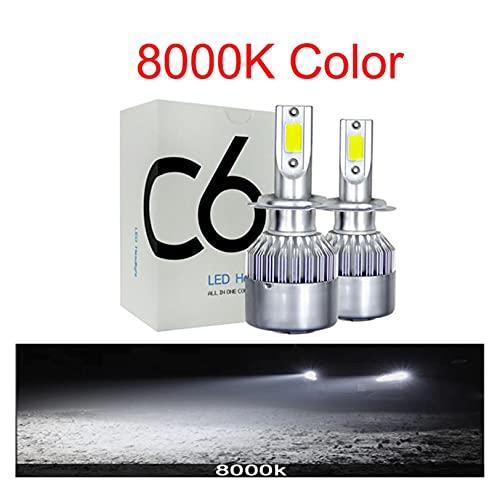 ScottDecor Oscaro Auto Parte 8000LM 4300K 6000K 12V LED Faro de Coche H7 LED H4 Bulb HB2 H1 H3 H11 HB3 9005 HB4 9006 9004 9007 9012 72W 8000lm Lámparas AUTOMÁTICAS Tesla Encendedor
