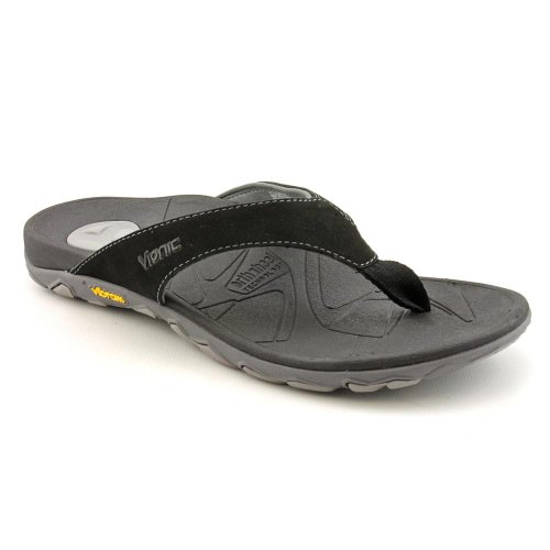 Vionic with Orthaheel Technology Men's Bryce,Black/Grey,US 7 M